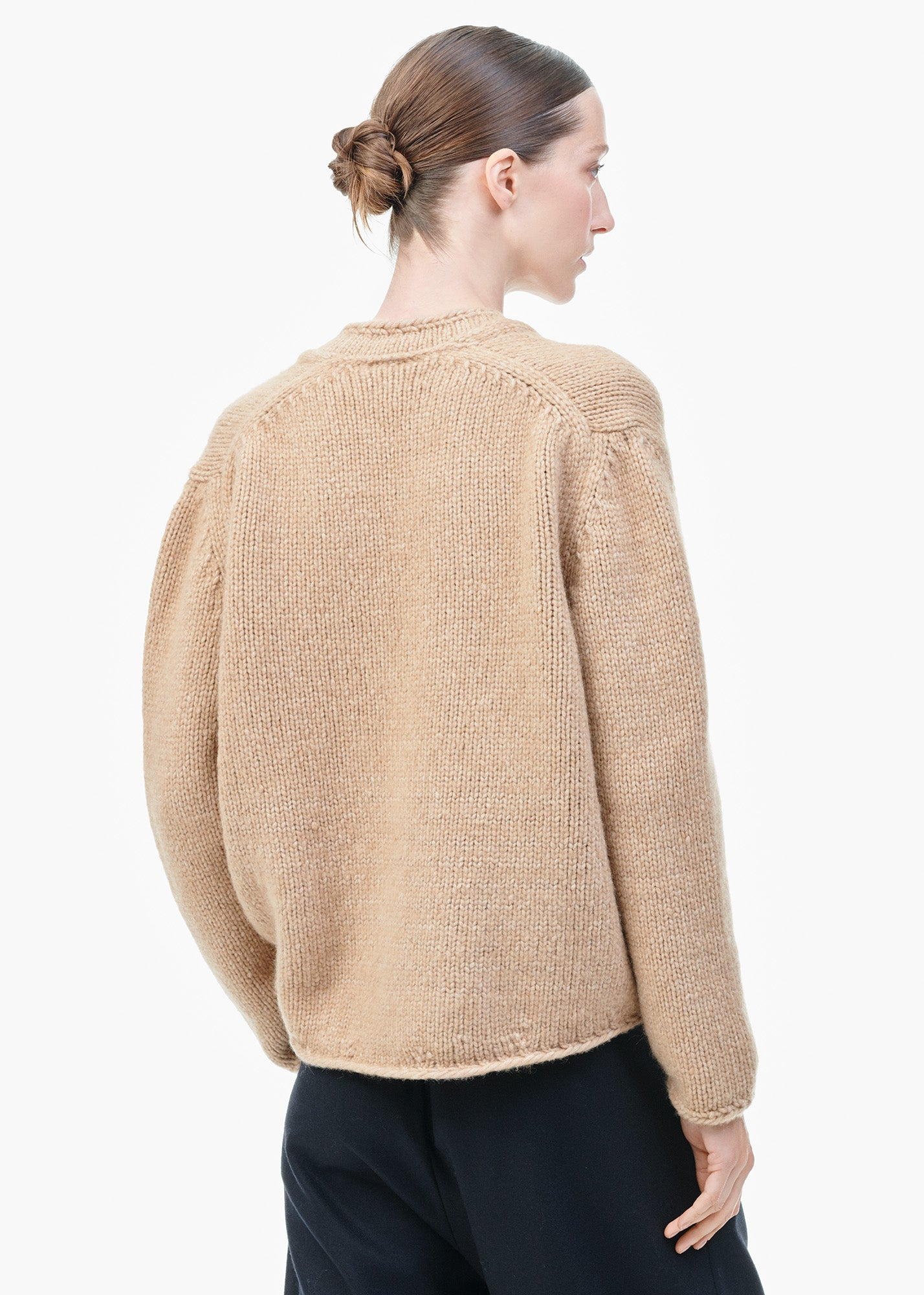 V-Neck Sweater Camel