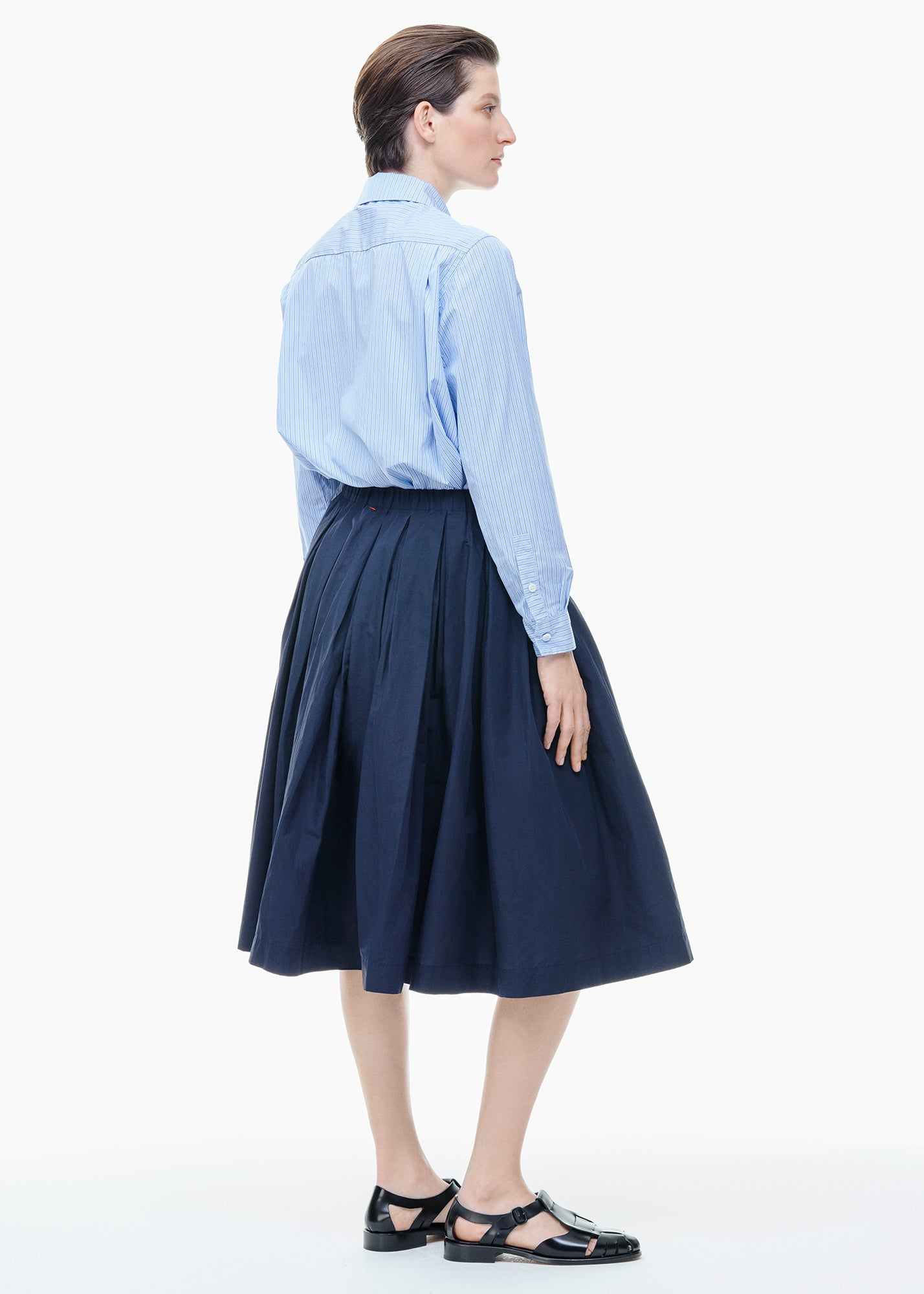Double Rideau Skirt Navy