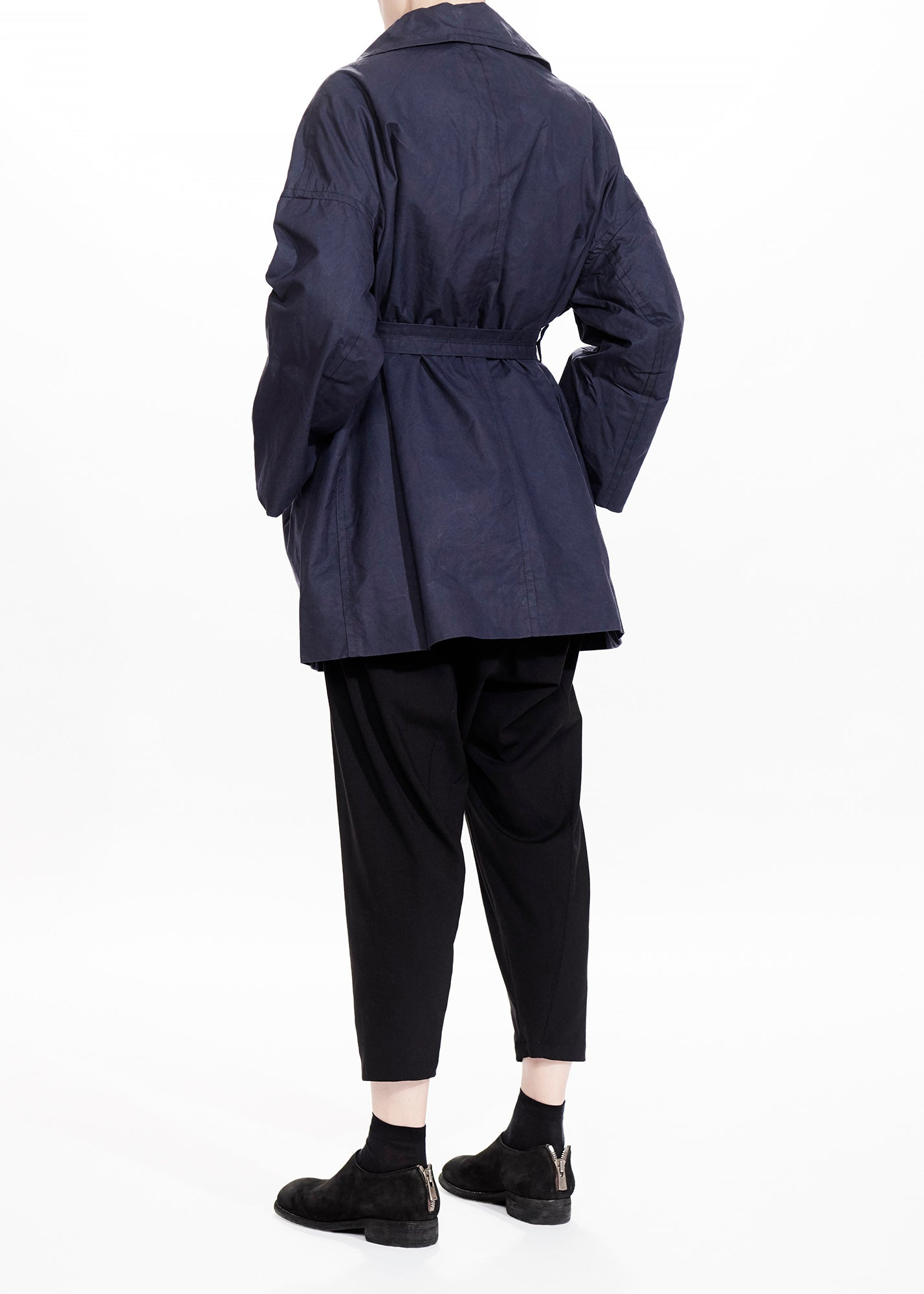 Slob Coat Navy Waxed Cotton