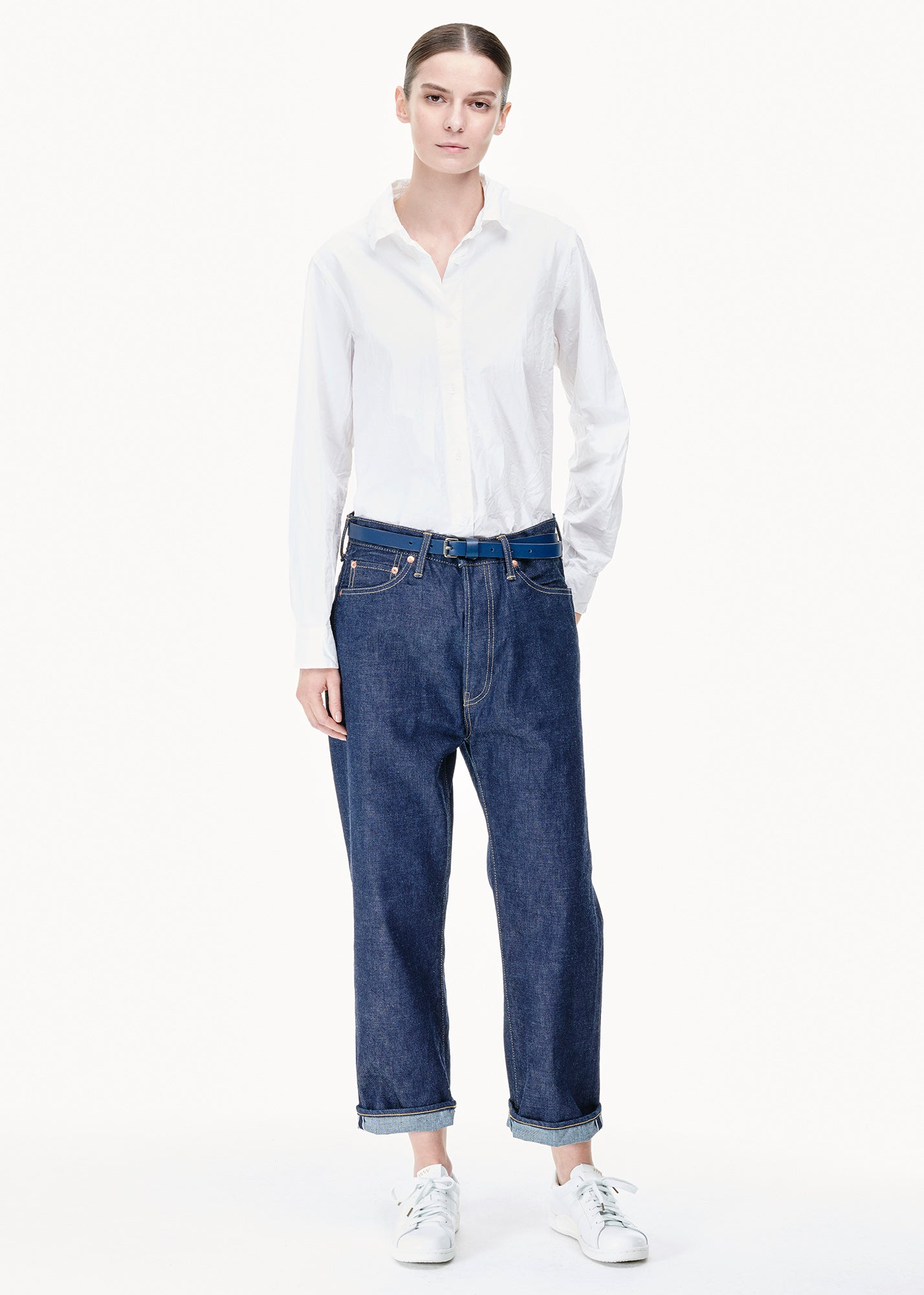 Wide Tapered Cut Jeans Rinse