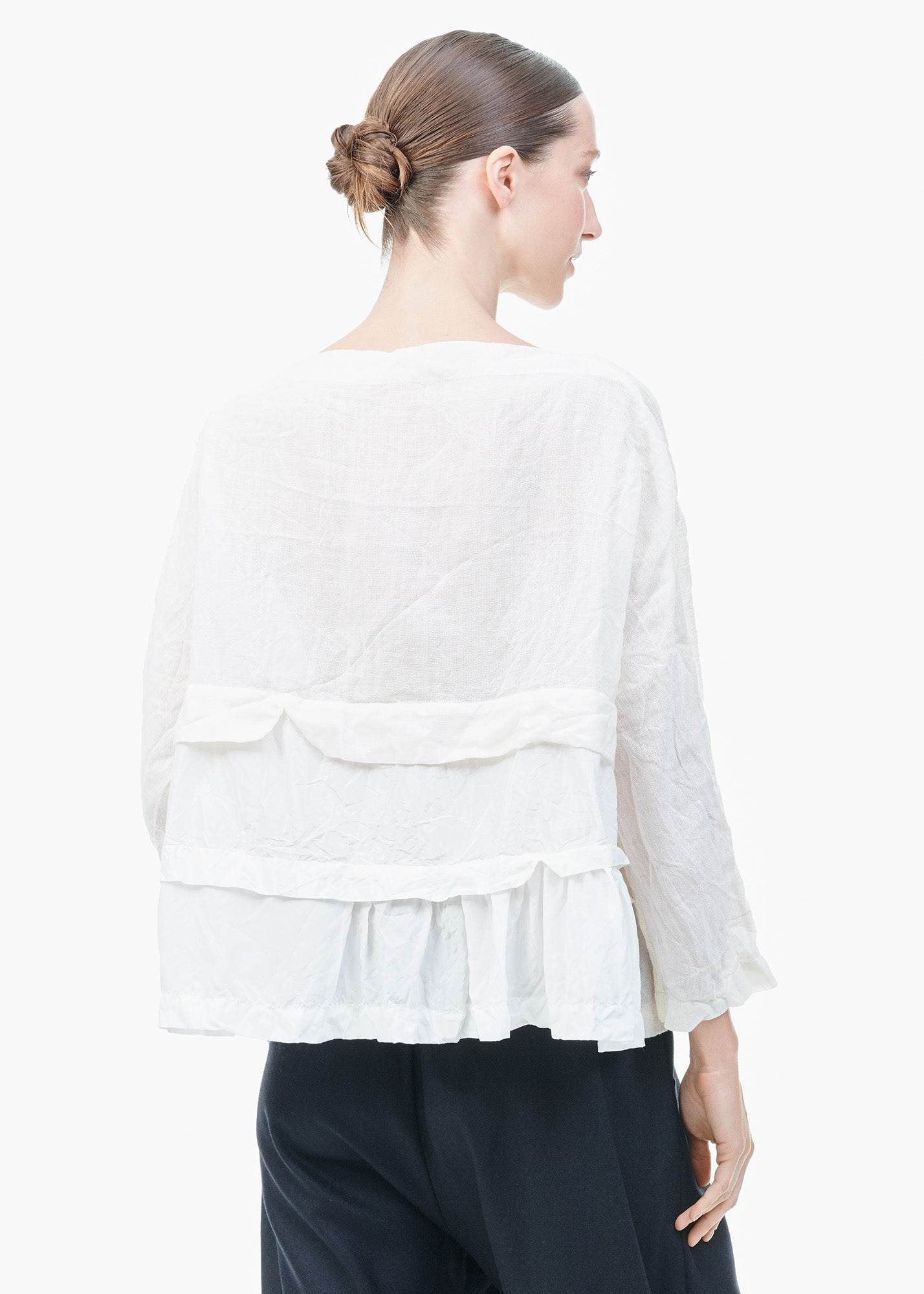 Layered Frill Top White