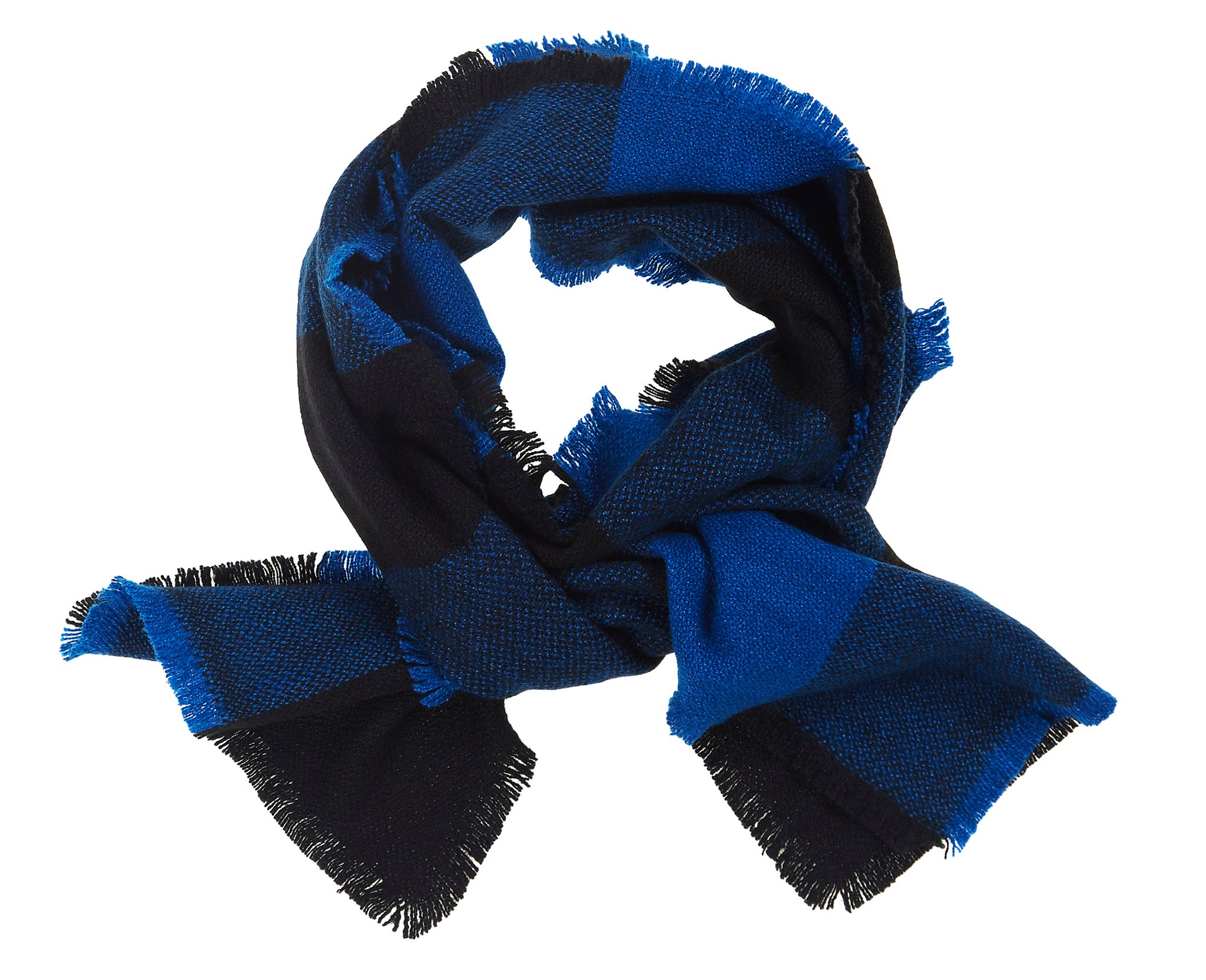 Four Sided Check Fringe Scarf