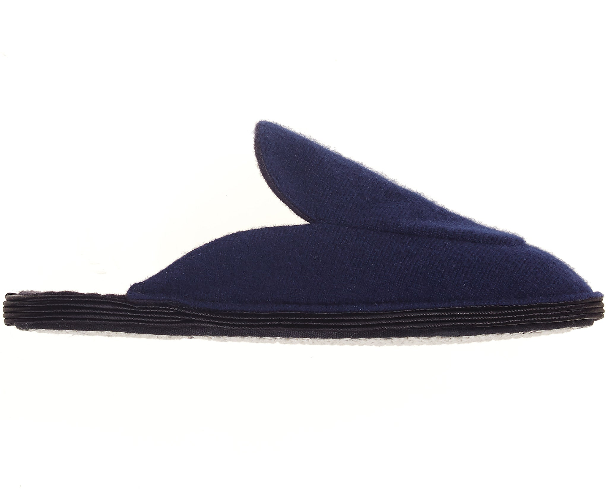 Cashmere Slippers Navy