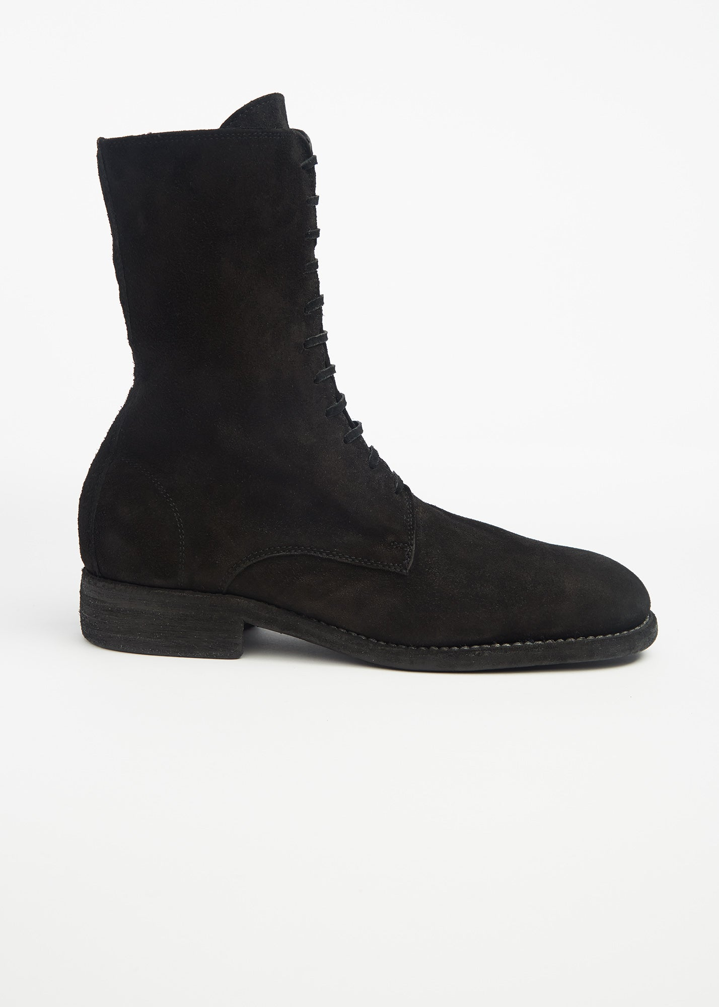 Guidi Lace Up Boots Black Suede   Tiina