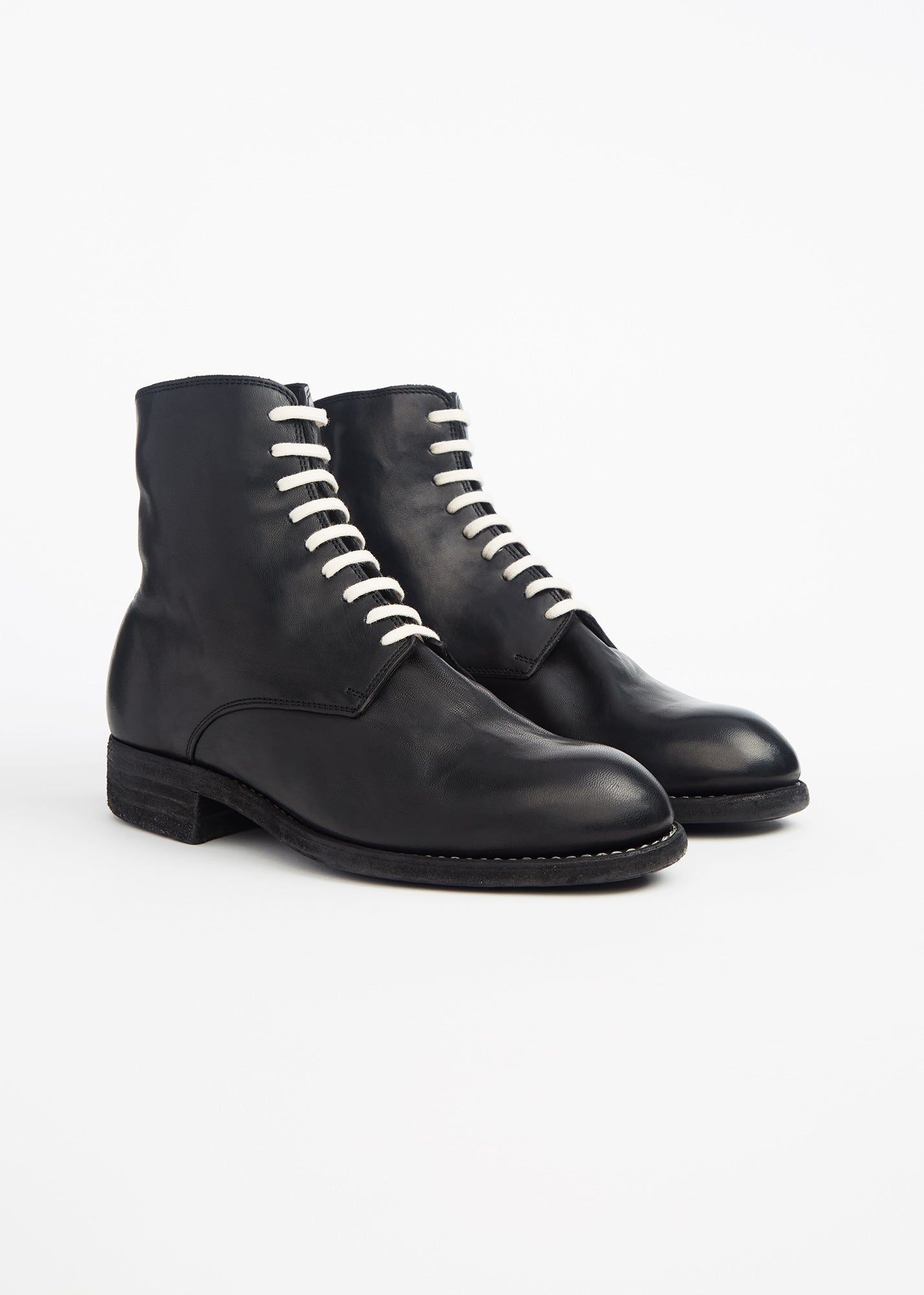 Vintage Lace Up Ankle Boots Black