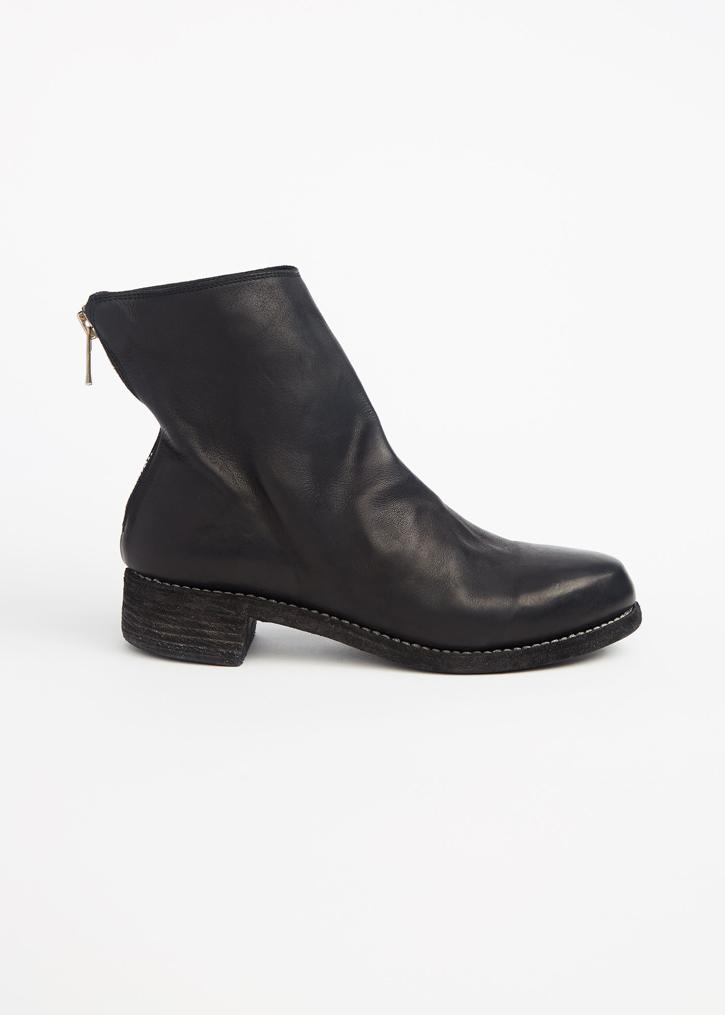 Zip Ankle Boot Black