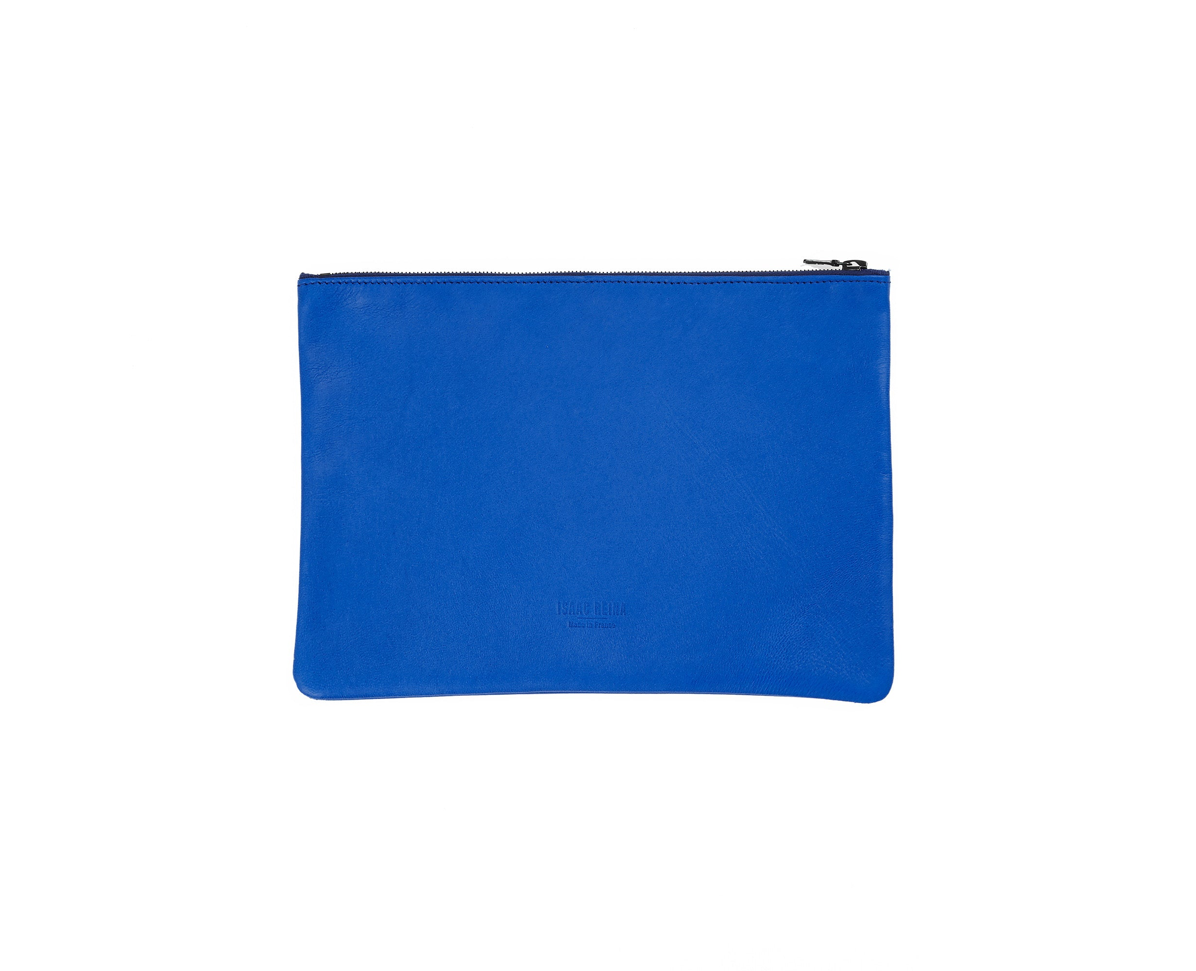 Isaac Reina Simple Zipped Pouch Cobalt