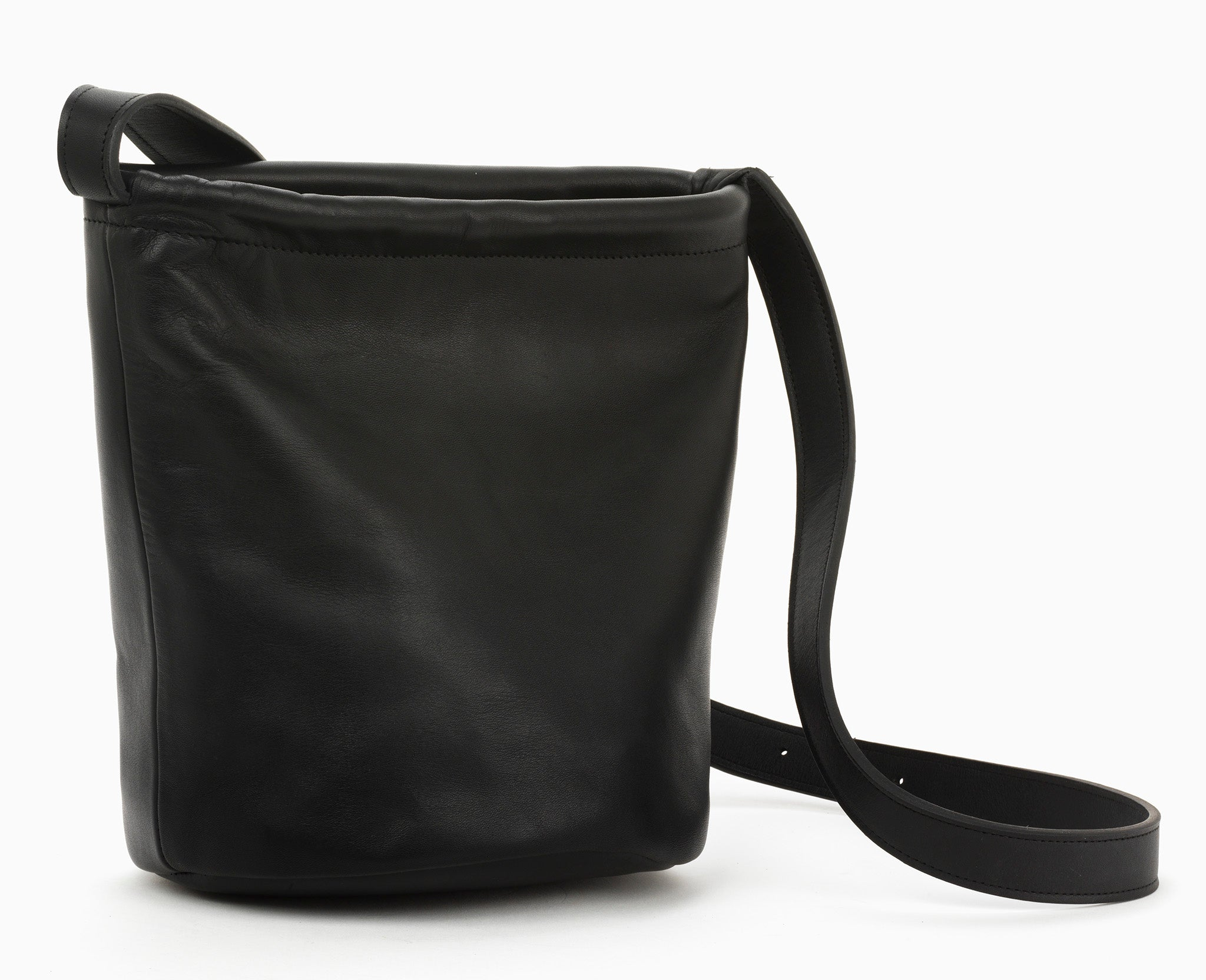 Small Swing Bucket Bag Black