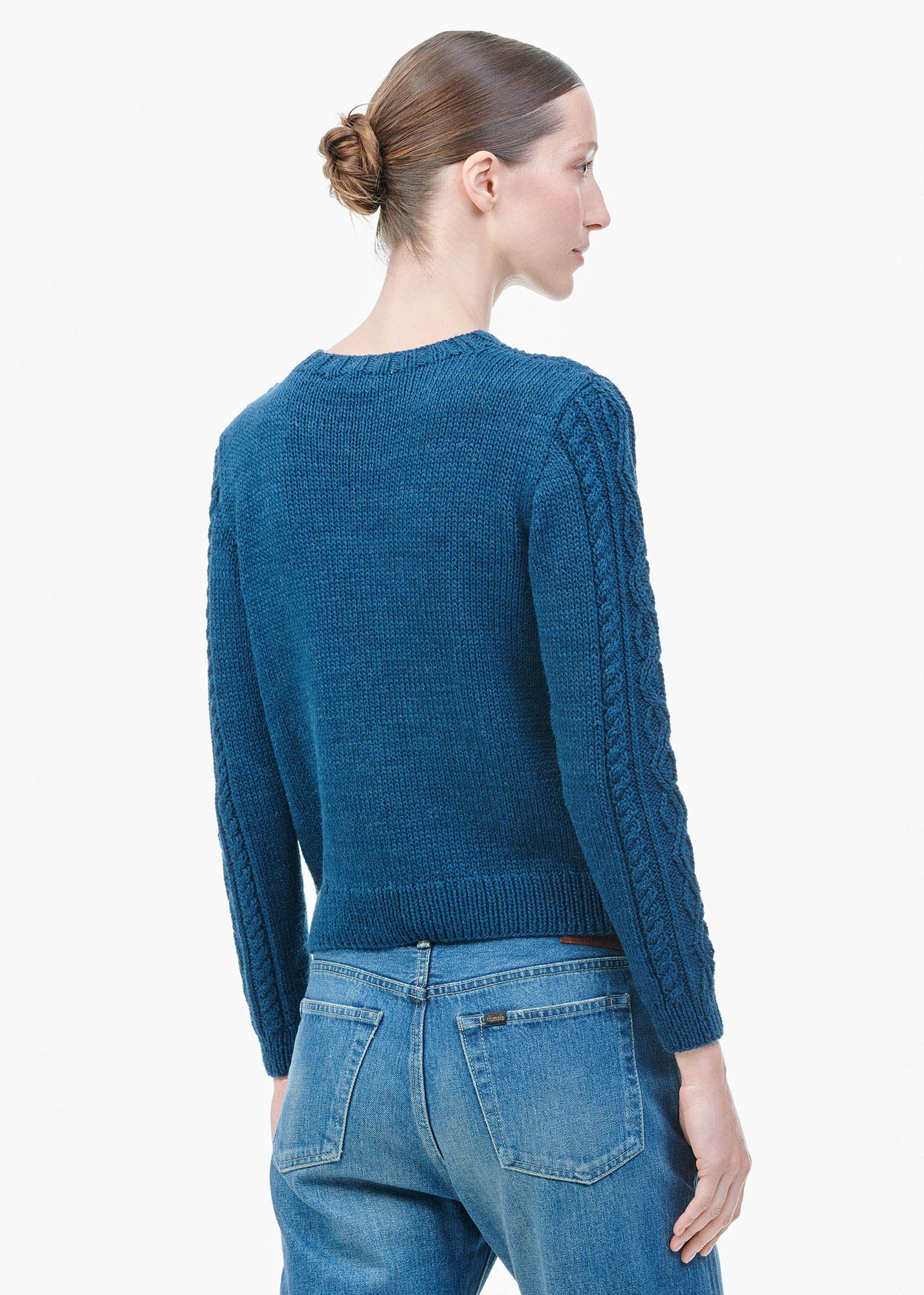 Cables Sweater Deep Sea