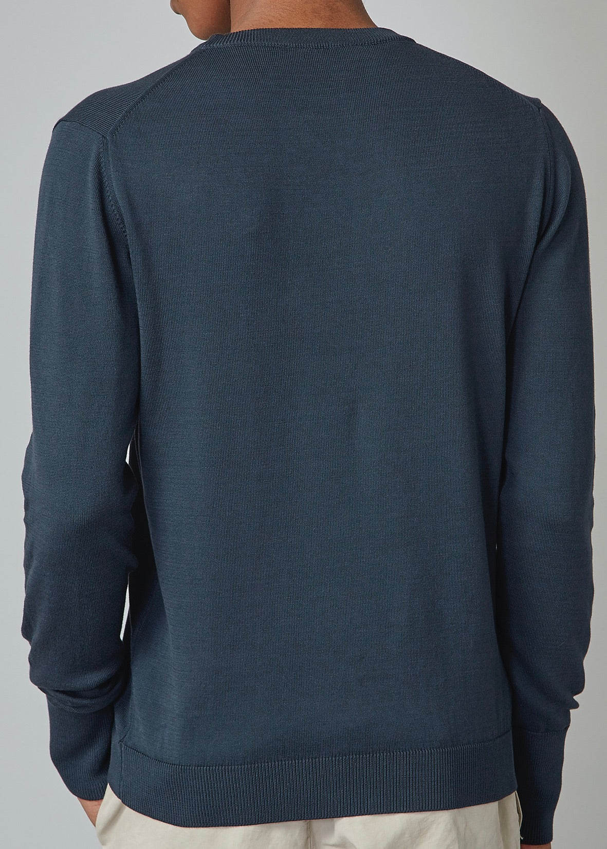Neils Cotton Sweater Dark Navy