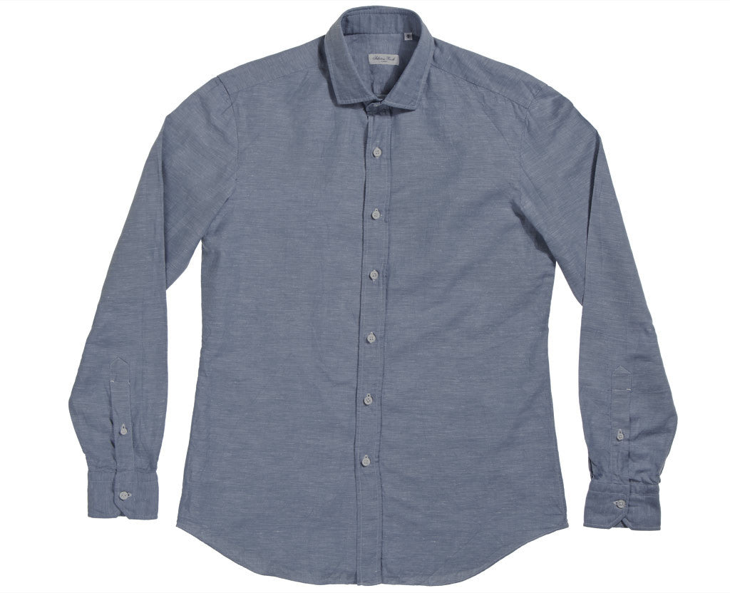 Salvatore Piccolo Men's Blue Chambray Shirt