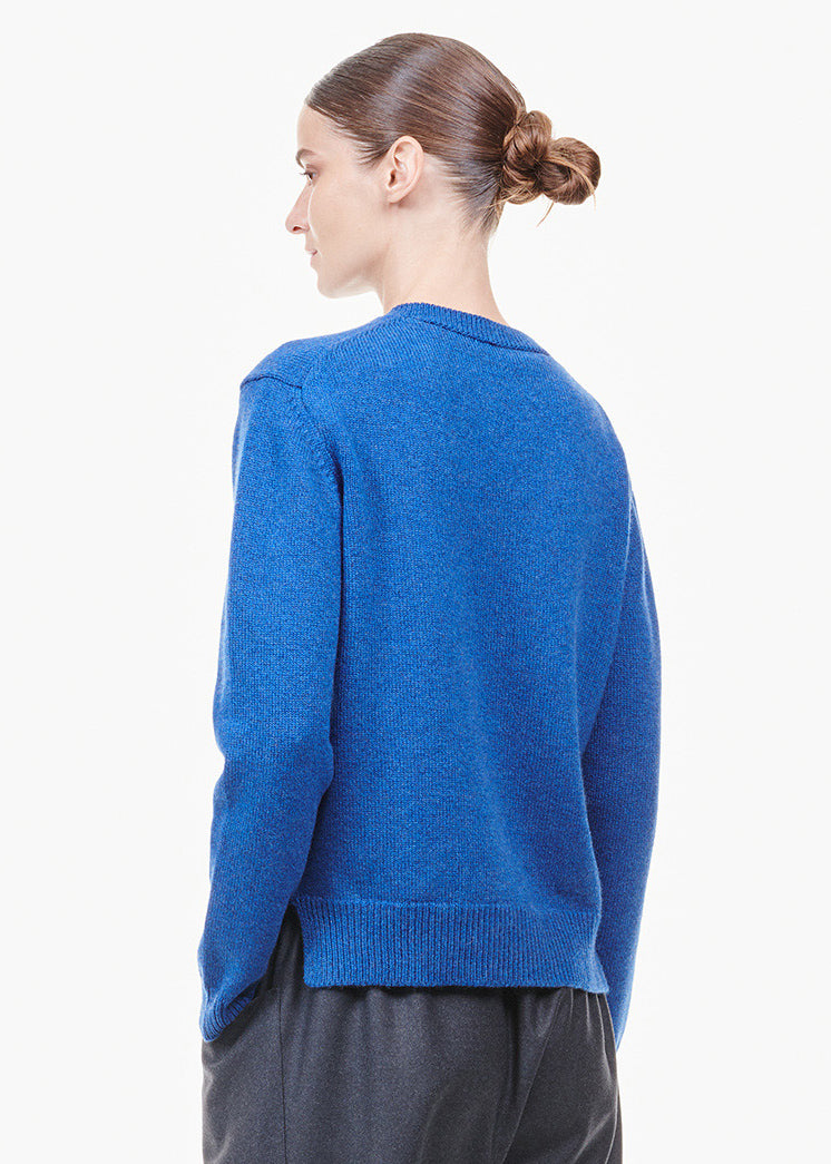 Round Neck Cashmere Sweater Indigo