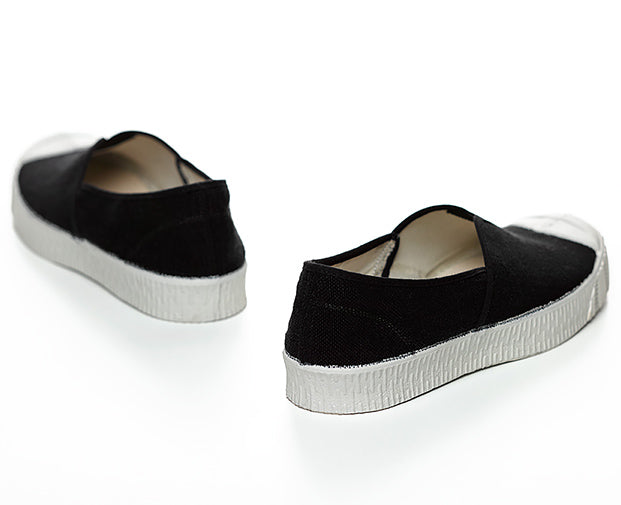 Special V Slip On Linen Black