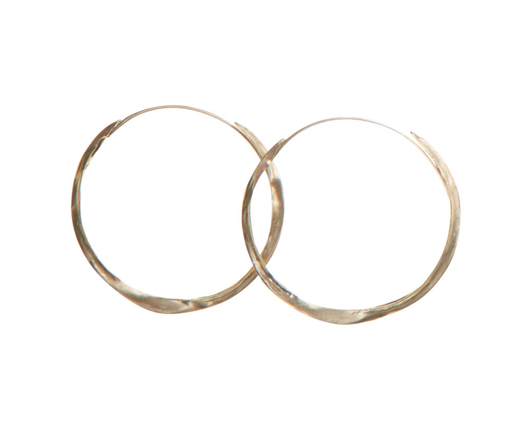 Tenthousandthings Crinkle Hoop Earrings