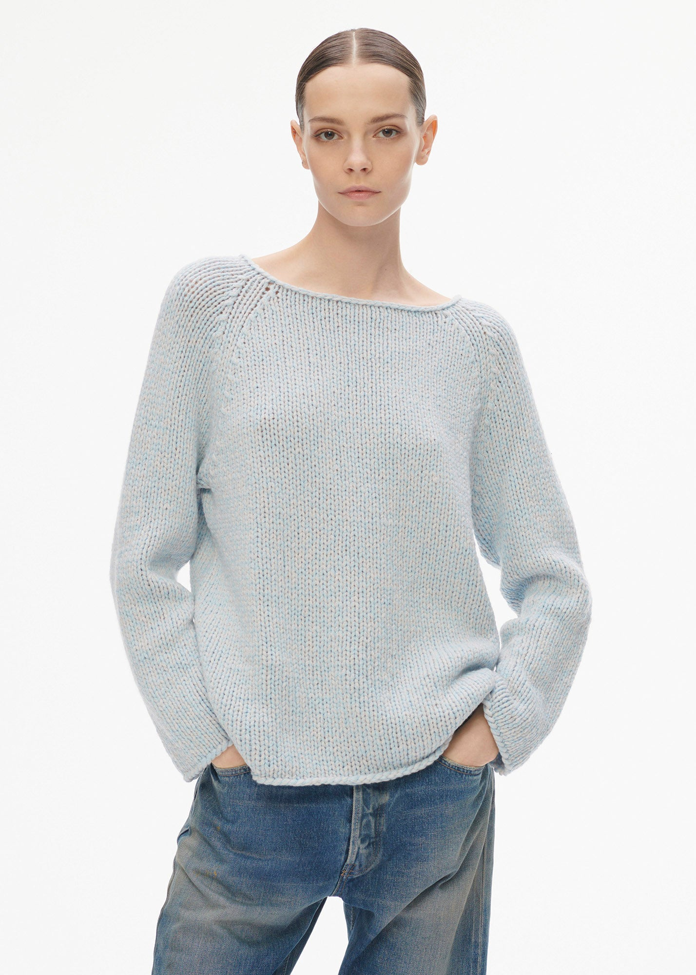 Mulan Sweater Light Blue/ Silver