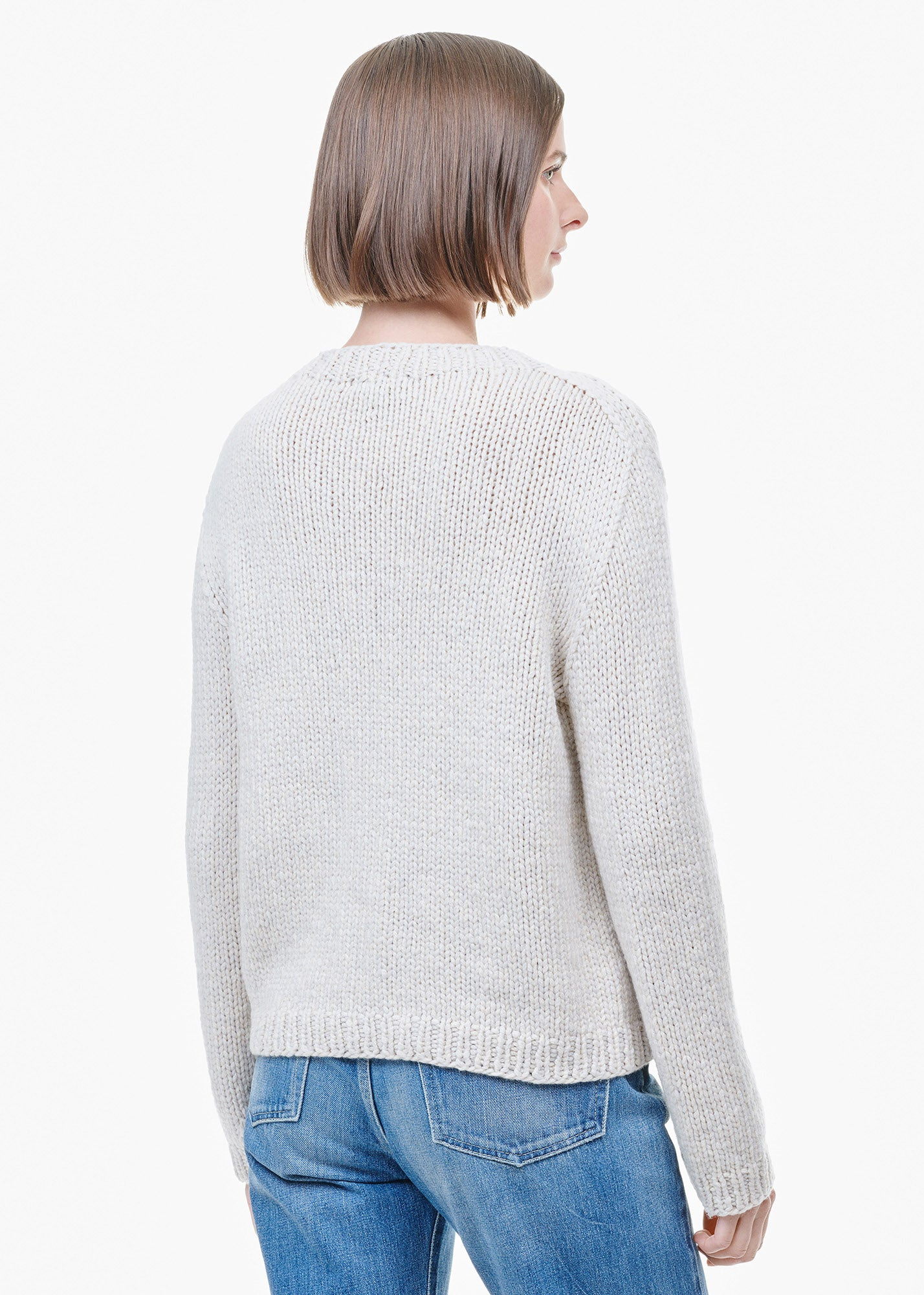 Rose Sweater Putty/ Oatmeal