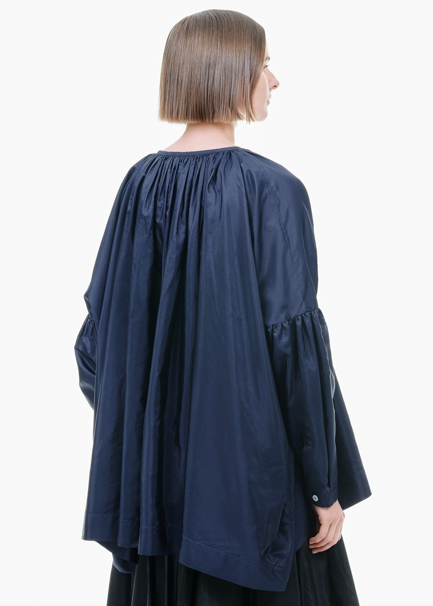 Oversized Silk Blouse Ink