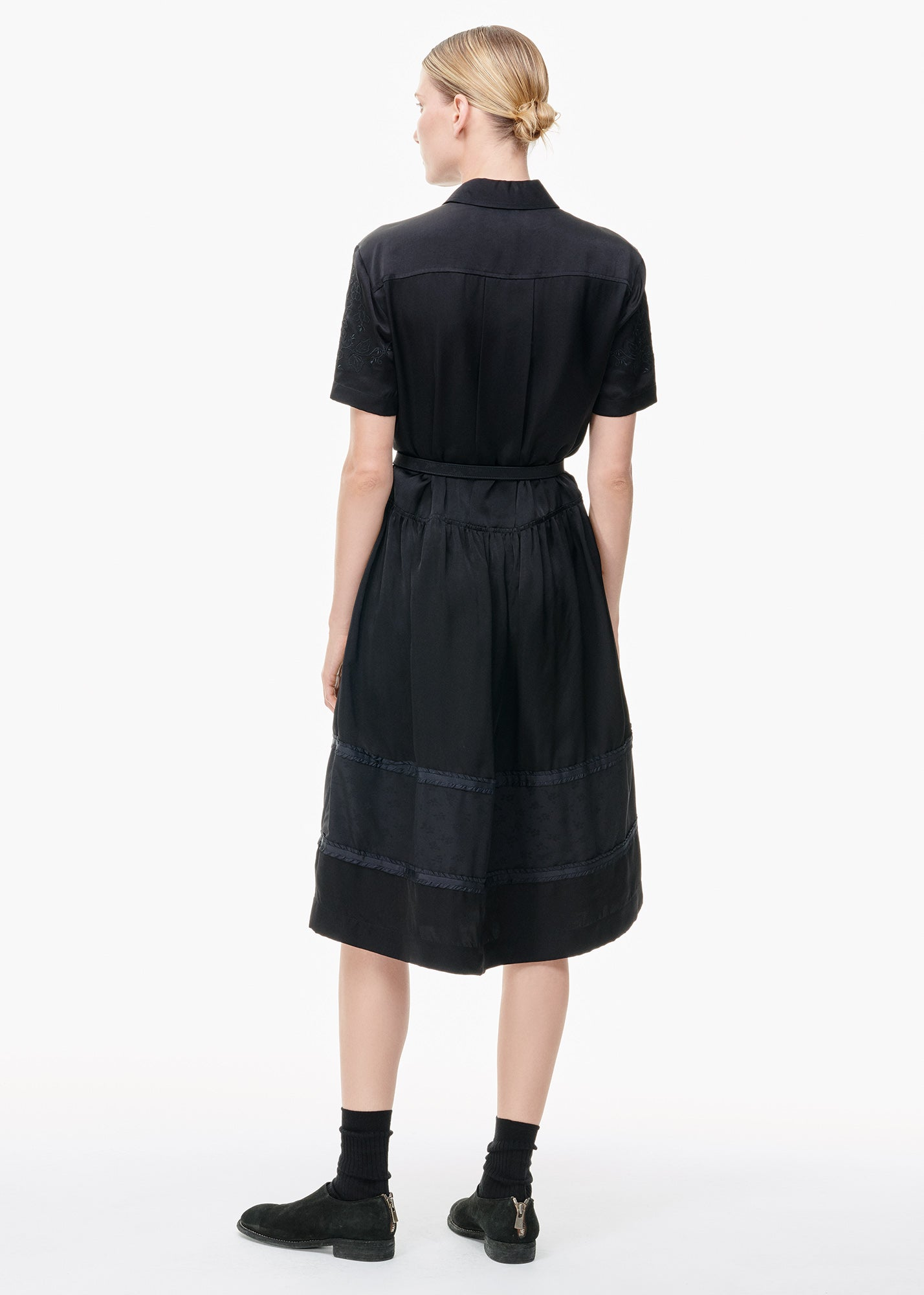 Paneled Shirtdress