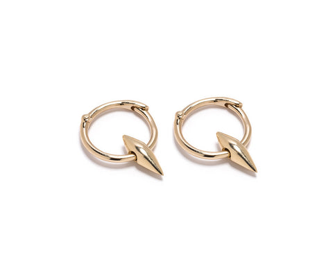 DT Cone Hoop Earrings Yellow Gold