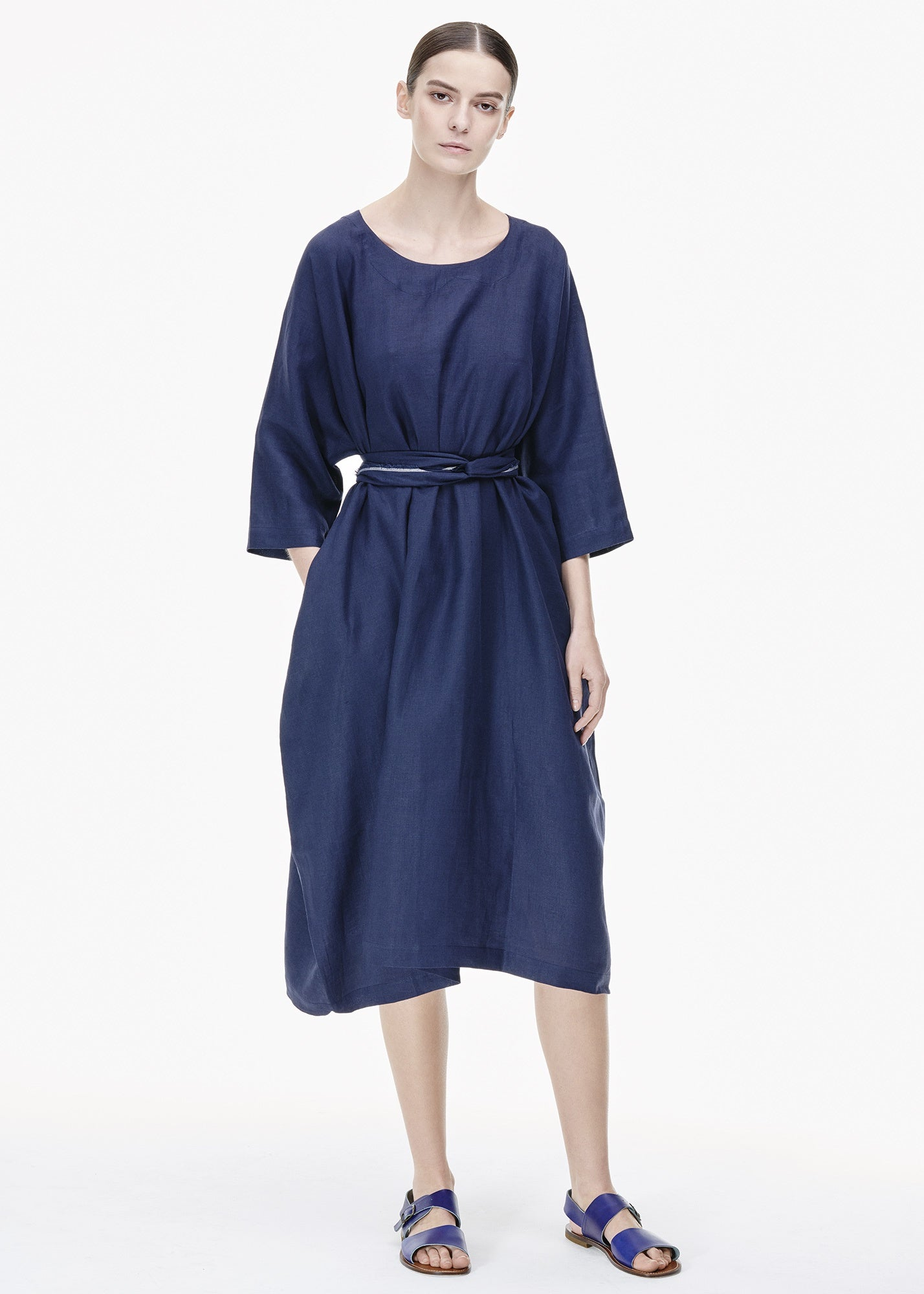 Tritone Dress Dark Blue