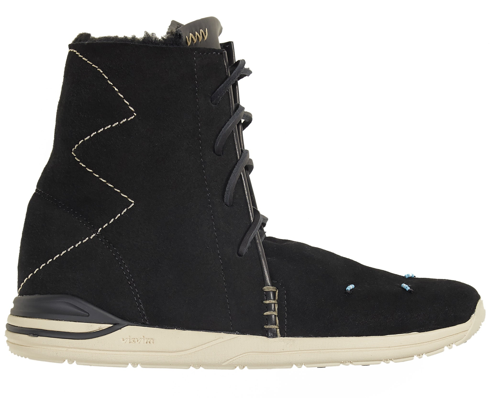 Women's Huron Moc Hi-Folk Shearling Black