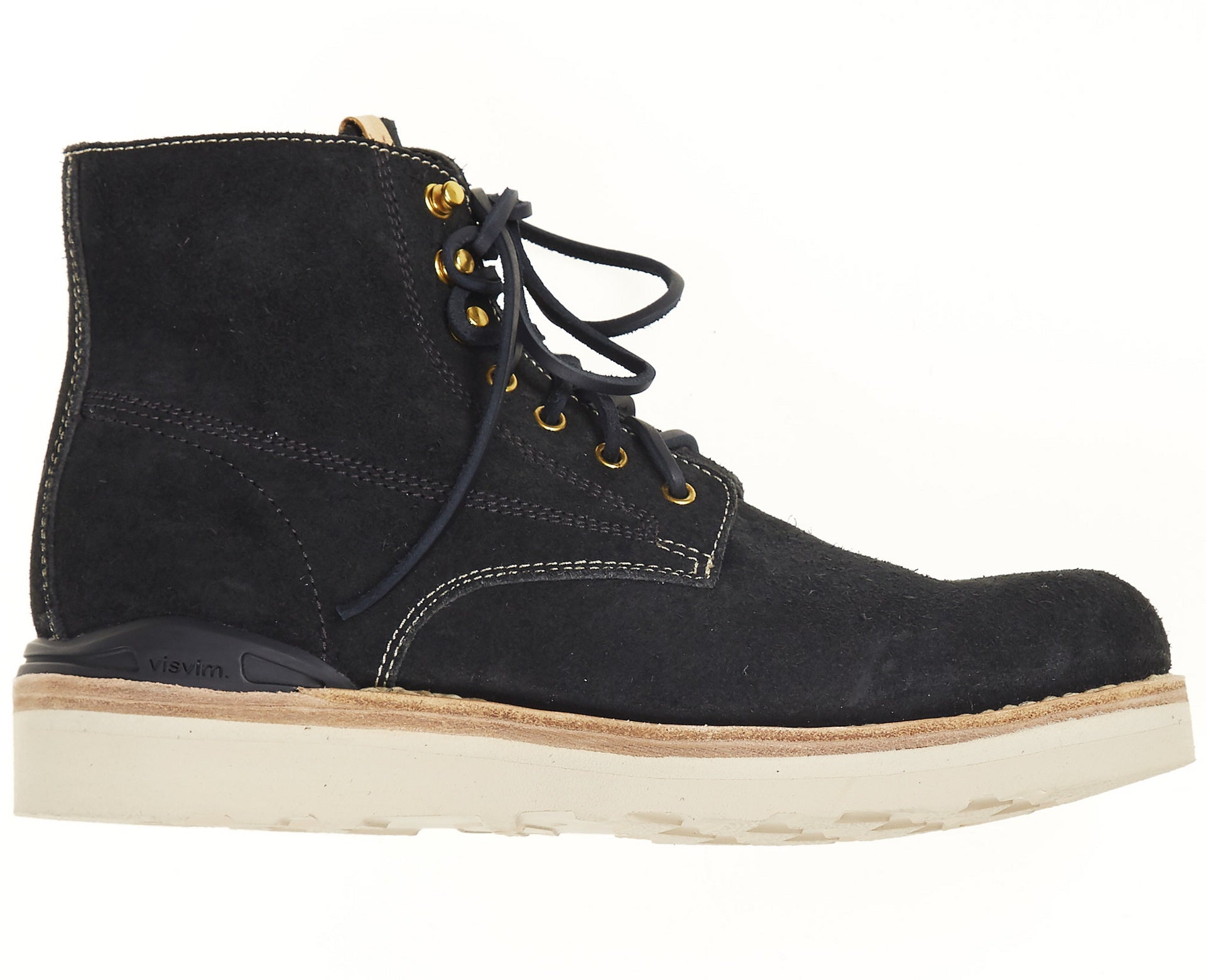 Visvim Men's Virgil Boots Folk Suede Black