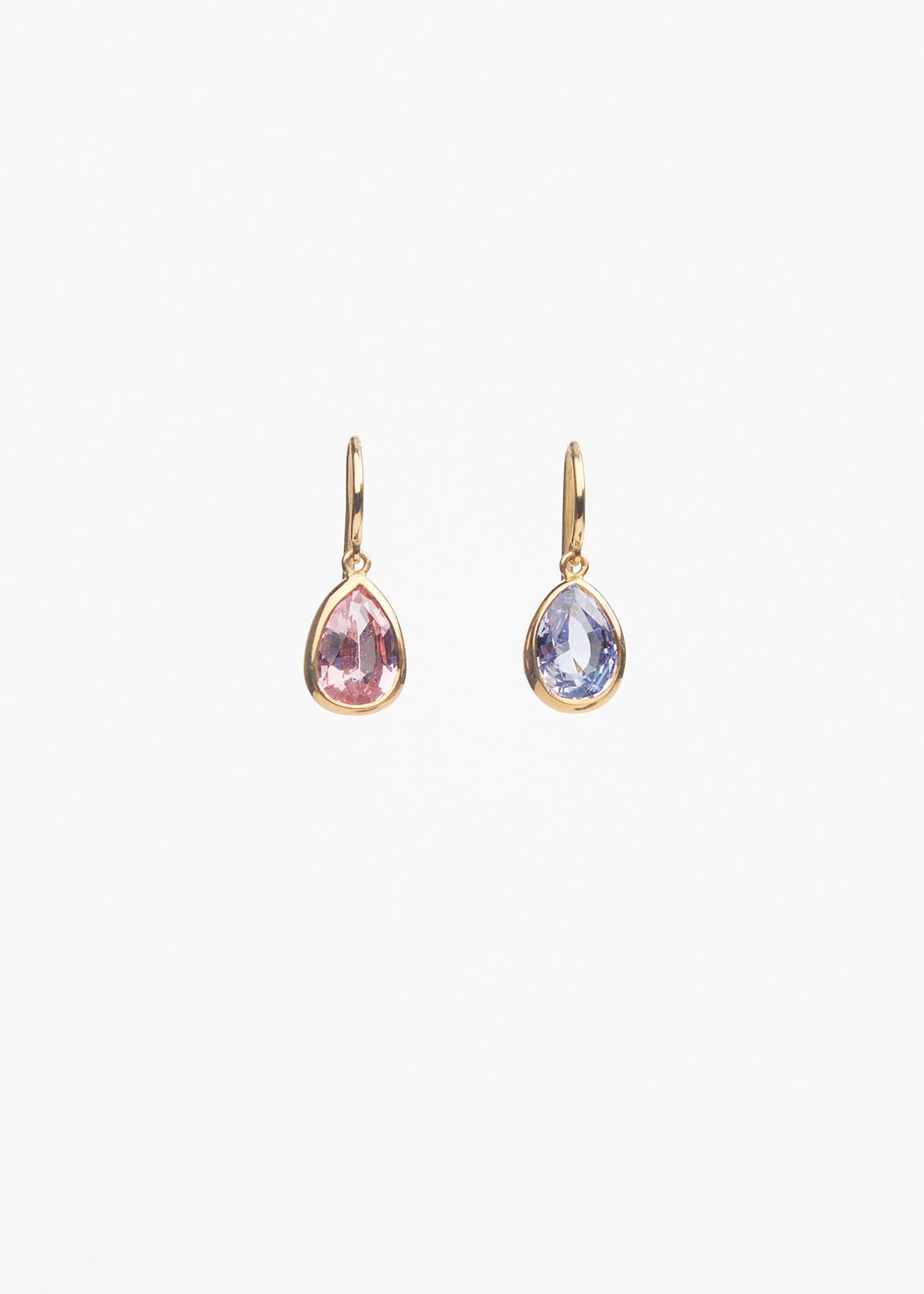 William Welstead Pink and Blue Spinel Earrings