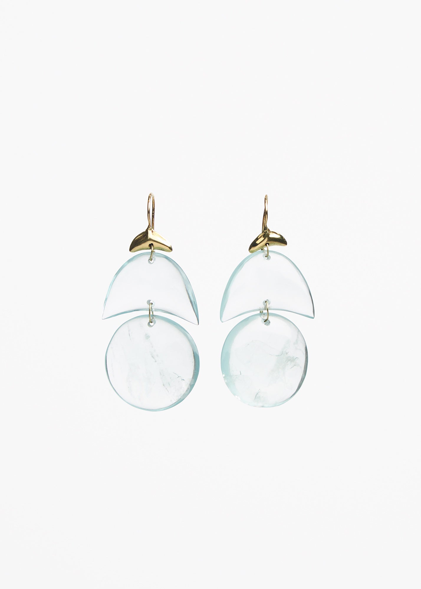 Aquamarine Small Arp Earrings