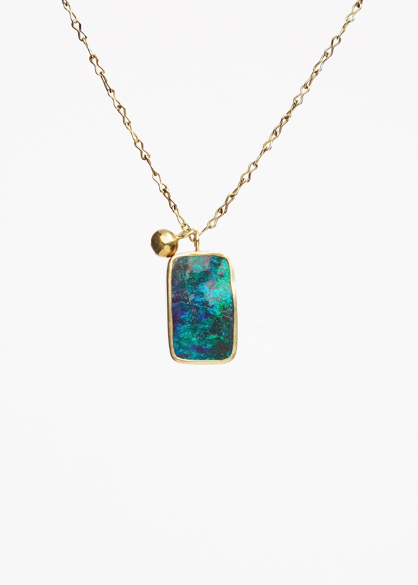 Colette Set Opal Pendant On Chain