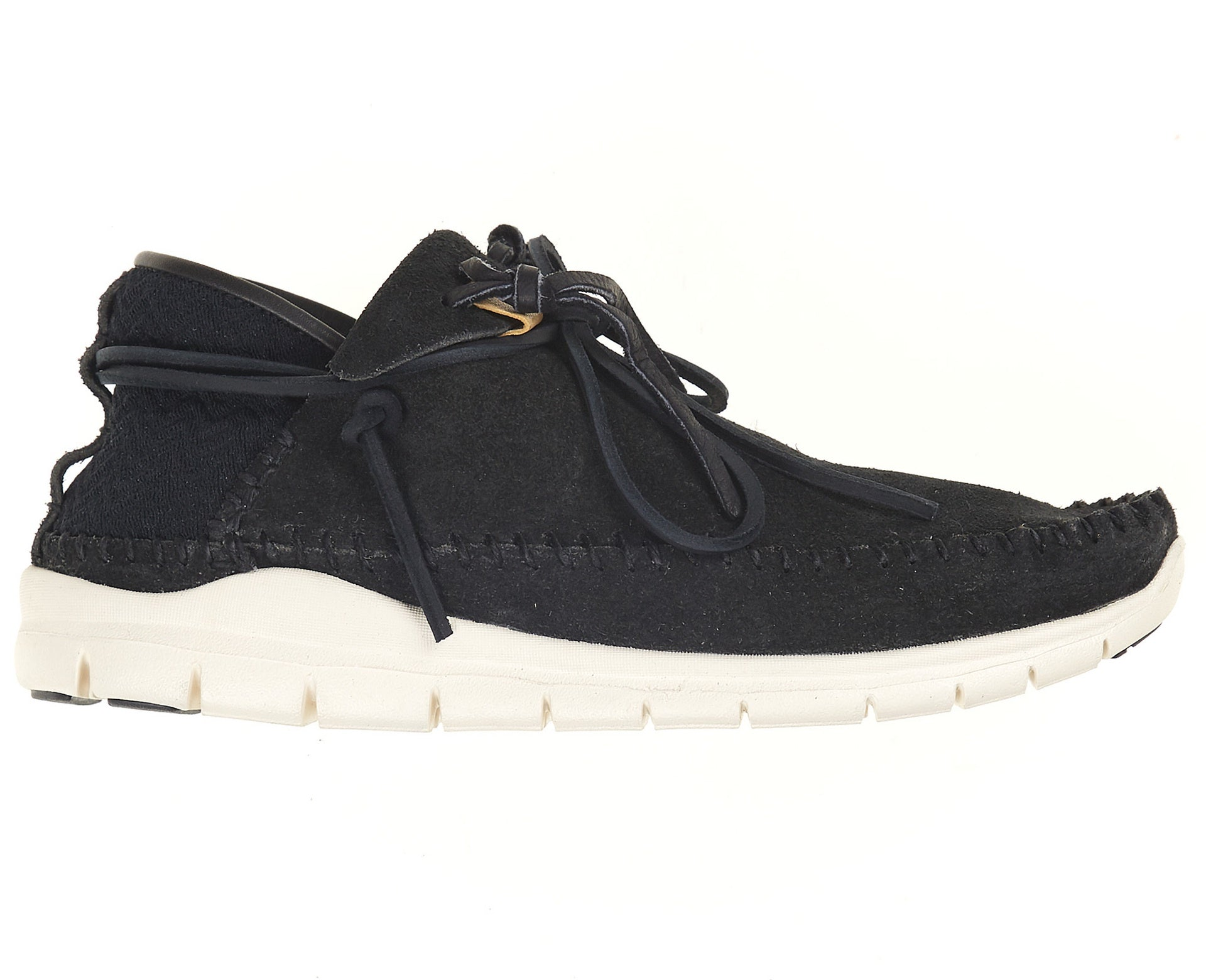 Visvim Men's Ute  Moc Trainer Folk Suede Black