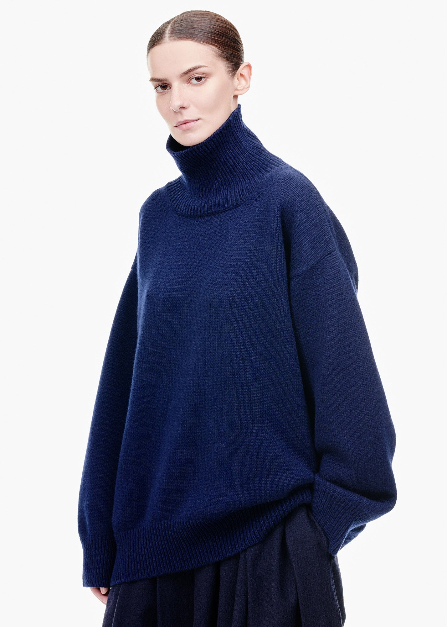 Oversized Cashmere Sweater Navy