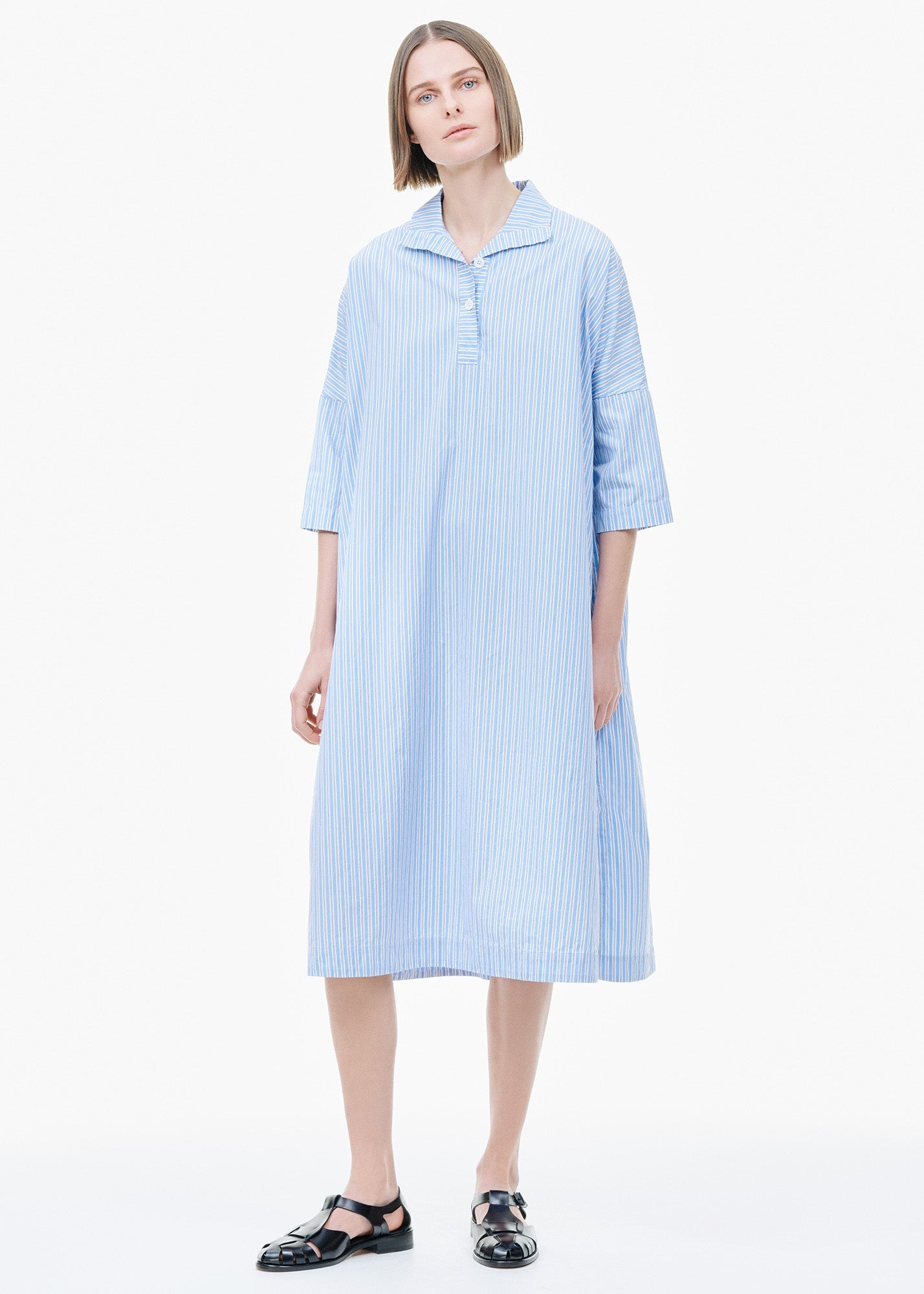 Nery Dress Blue/ White Stripe