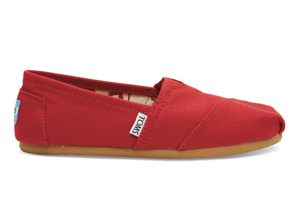 TOMS Classic Canvas Red 7.5 Women's