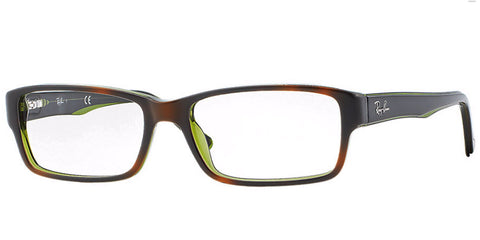 Ray-Ban Rx5169 2383 Tortoise-Green/Clear 52mm Rx Glasses