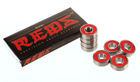 Bones - Red Skateboard Bearings 8 pack