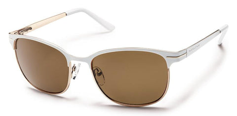 Suncloud Causeway S-CUPPBRWT White Frame/Brown Lens Sunglasses