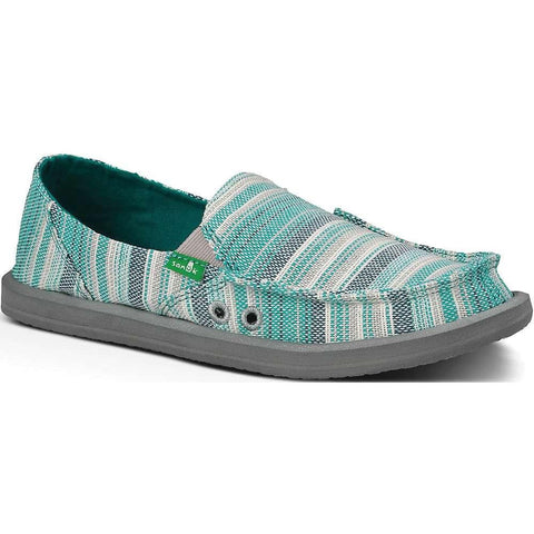 Sanuk Donna Caroline Teal 8 Women's Shoe