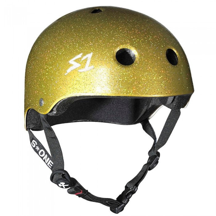 Lifer Gold Glitter Medium Helmet