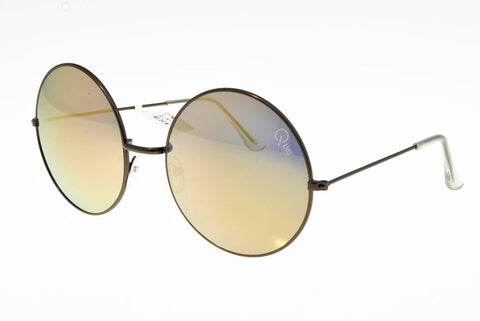 Quay Dynasty Copper / Gold Mirror Sunglasses