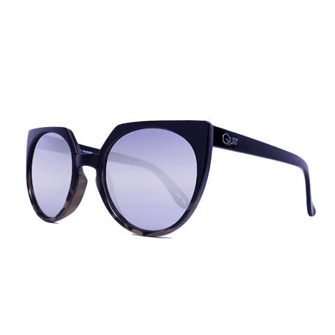 Quay Give And Take Black Tort / Silver Mirror Sunglasses