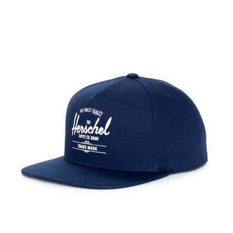 Herschel Whaler Cotton Navy Men's Hat