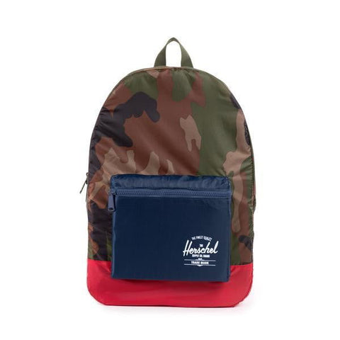 Herschel Pa Daypack 70D Poly Woodland Camo/Navy/Red Men's Backpack