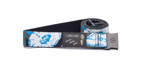 Arcade The Pacific Slim Black/White O/S Men's Belt