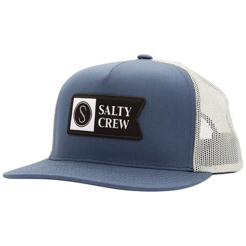 Salty Crew Alpha Twill  Navy/Ice Trucker