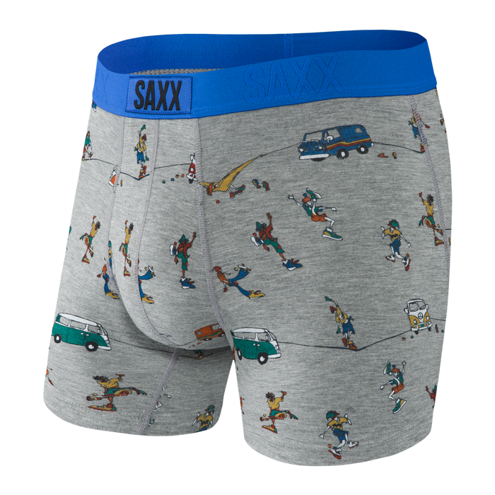 SAXX Grey Hacky Slackers  Vibe Boxer Brief Men's Underwear