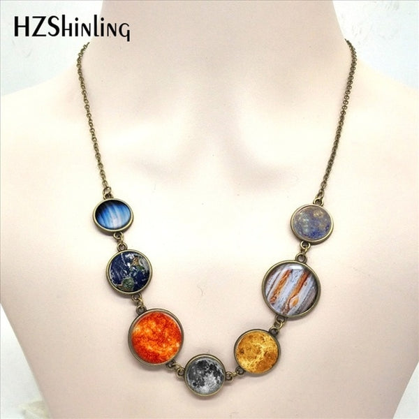Solar System Necklace Planet Universe Galaxy