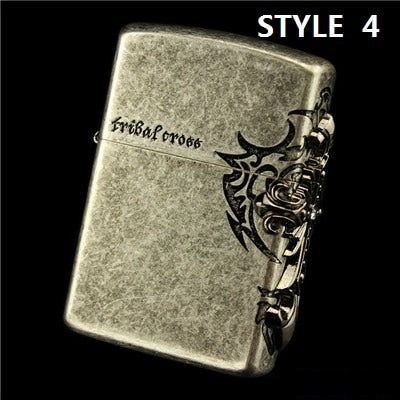 ZORRO Genuine Cross Series Bronze Cigarette Lighter
