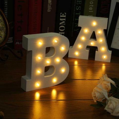 WOODEN ALPHABETS LED