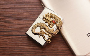 Inflatable Dragon Relief Pattern Cigarette Lighter