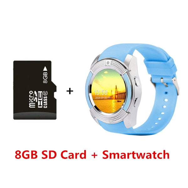 Touch Screen Smartwatch with Camera/SIM Card Slot